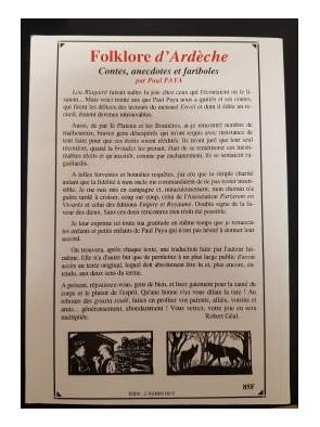 Folklore d'Ardèche Contes,...